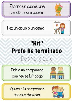 descargable gratuito para trabajar en clase early finishers