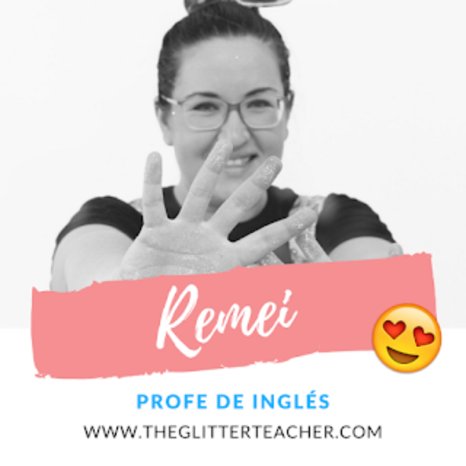 The glitter teacher English teacher