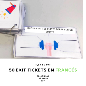 Exit tickets for lessons. Pack of exit tickets. Exit tickets para clase.  ClaustrodeIG Profedeele